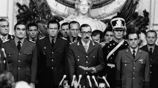 Juramento de Jorge Rafael Videla como Presidente de Argentina el 29 de marzo de 1976.