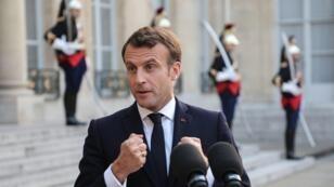 Le président Emmanuel Macron à l'Élysée, le 20 mai 2019.