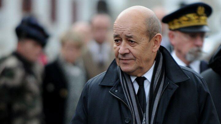 وزير الدفاع الفرنسي جان إيف لودريان 19 يناير / كانون الثاني 2016