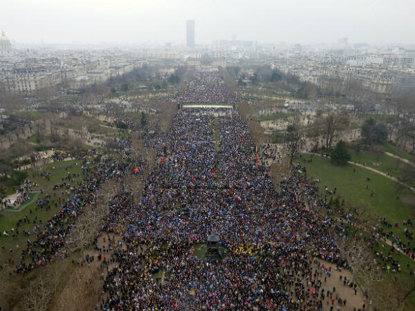 Mass demonstration against gay marriage in Paris, January 2013