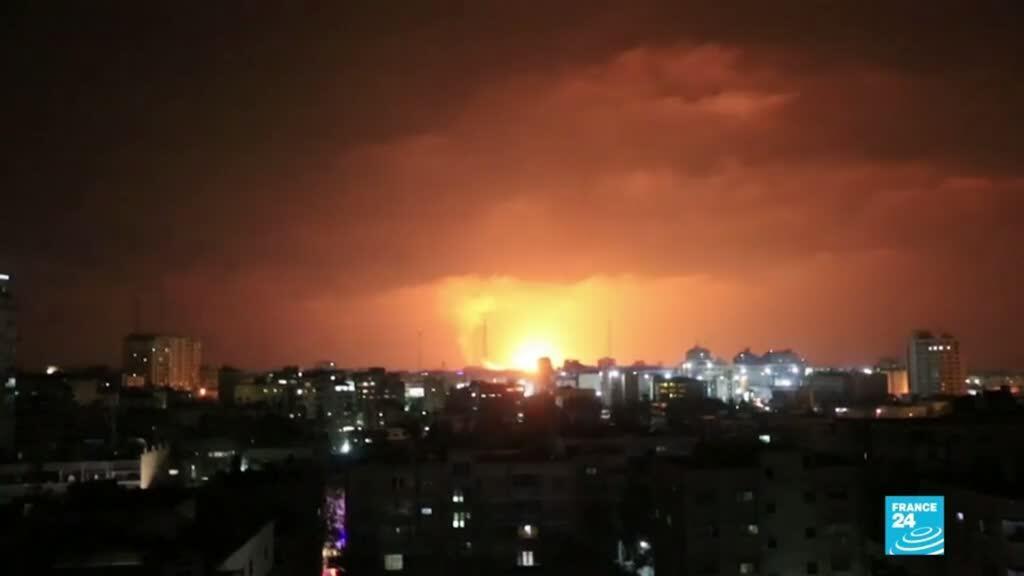 2021-05-11 01:04 Ataque aéreo de Israel deja a 20 palestinos muertos en Gaza