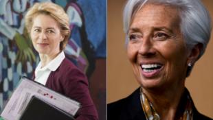 """رئيسة المفوضية الأوروبية """"أورسولا فون دير لاين""""و """"كريستين لاغارد"""" رئيسة البنك المركزي الأوروبي"""
