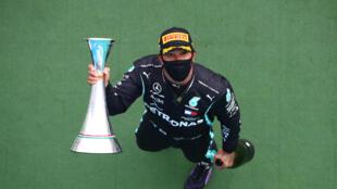 Le Britannique Lewis Hamilton (Mercedes) vainqueur du GP de Hongrie, le 19 juillet 2020 près de Budapest