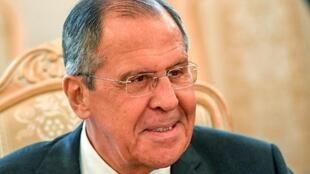 وزير الخارجية الروسية سيرغي لافروف في موسكو في 16 أيار/مايو 2018