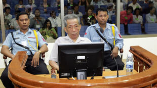 Khmer Rouge torturer Kaing Guek Eav, better known as Duch during his trial in Phnom Penh in 2008