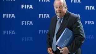 Le médecin en chef de la FIFA, Michel d'Hooghe, à Zurich, le 16 octobre 2016