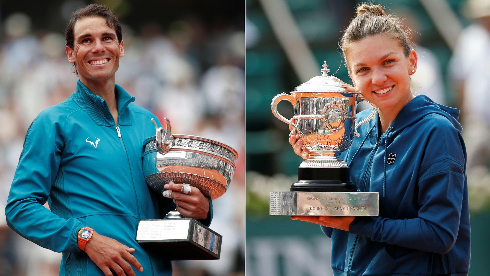 Non content d'être redevenu numéro un mondial, l'Espagnol Rafael Nadal marque un peu plus l'histoire du tennis en remportant Roland-Garros pour la 11e fois. Chez les femmes, la Roumaine Simona Halep s'adjuge son tout premier majeur, juste récompense pour la numéro un à la WTA.