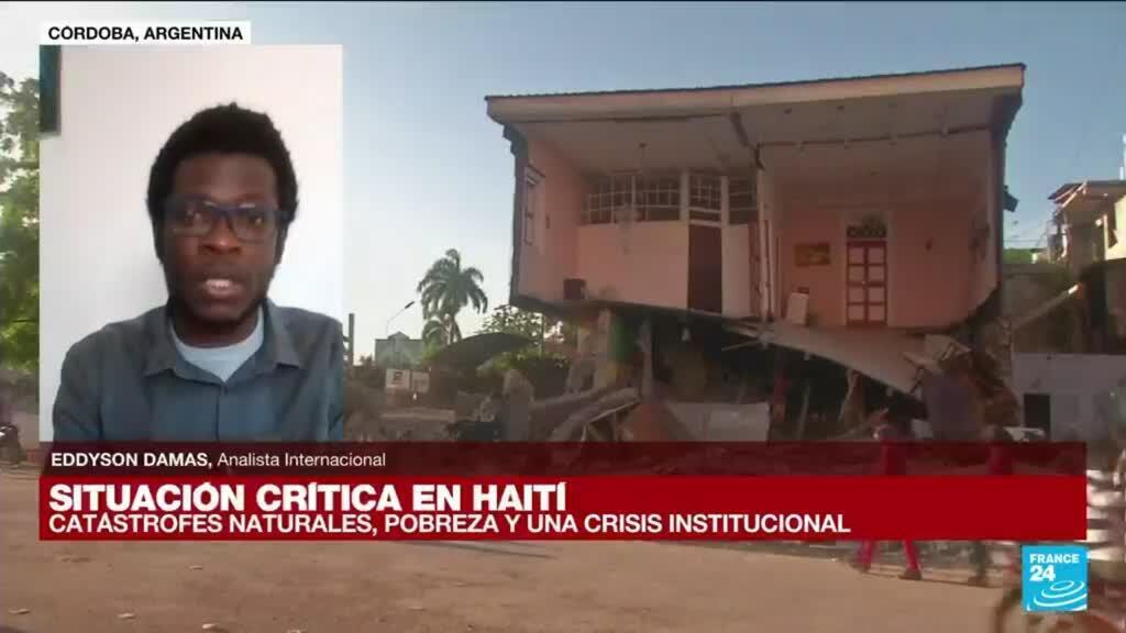 """2021-08-15 14:42 Eddyson Damas: """"A causa del terremoto en Haití el hambre y el desempleo aumentarán"""""""