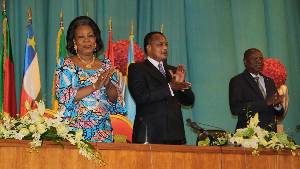 La présidente de transition, Catherine Samba-Panza et le président congolais, Denis Sassou Nguesso, en juillet 2014.
