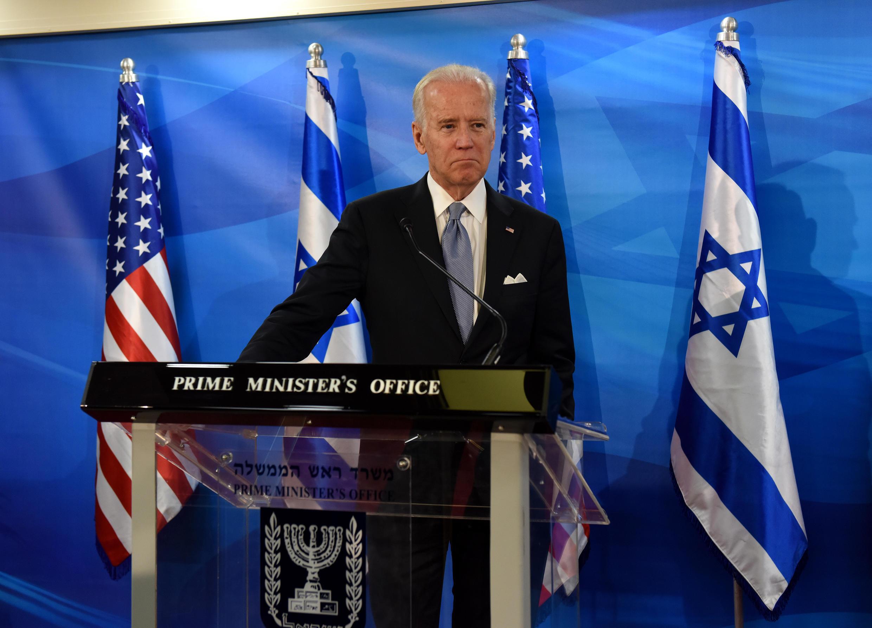 Joe Biden, alors vice-président américain, à Jérusalem en 2016.