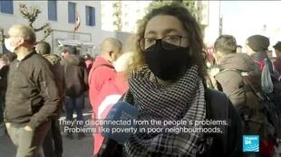 2021-01-27 08:11 Tunisian protesters march on parliament amid cabinet reshuffle