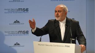 Le ministre iranien des Affaires étrangères Mohammad Javad Zarif s'est exprimé à la conférence de Munich sur la sécurité, le 17 février 2019.