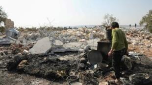 موقع العملية الأمريكية الخاصة التي أدت إلى مقتل البغدادي في قرية باريشا بإدلب السورية.