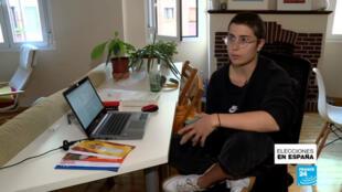 Celia, una publicista de 28 años que vive en Madrid, se declara abstencionista para las elecciones generales del 10 de noviembre.