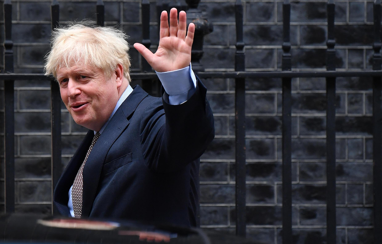 Le Premier ministre britannique Boris Johnson à sa sortie du 10 Downing Street, le 9 septembre 2020, à Londres.