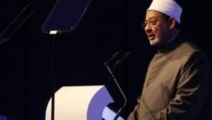 الإمام الدكتور أحمد محمد الطيب في أبوظبي في 9 آذار/مارس 2014