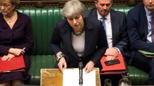 رئيسة الوزراء البريطانية تيريزا ماي أمام  مجلس النواب 13 مارس/آذار 2019