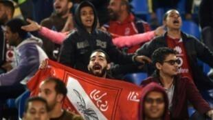 مشجعو النادي الأهلي المصري.
