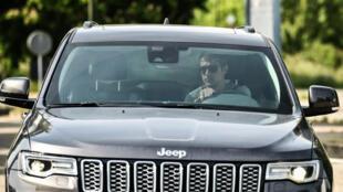 Welsh midfielder Aaron Ramsey arrives at Juventus' Continassa training ground in Turin