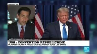 """2020-08-25 07:02 Convention républicaine, jour 1 : """"Il n'était pas question que la convention échappe à Donald Trump"""""""