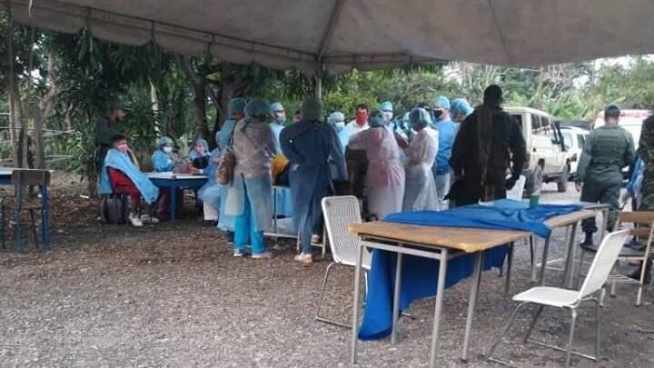Los albergues en Venezuela destinados a acoger a los retornados disponen de equipo médico para realizar pruebas de Covid-19.