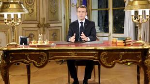 Emmanuel Macron s'est adressé aux Français, lundi 10 décembre.