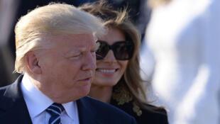 Donald Trump et sa femme Melania à leur arrivée en Italie, mardi 23 mai 2017.