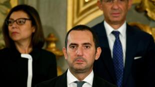 وزير الرياضة الايطالي فينتشنزو سبادافورا في روما في الخامس من أيلول/سبتمبر 2019.