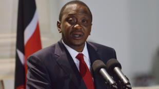 Le président kényan Uhuru Kenyatta lors d'une conférence de presse le 29 octobre 2014.