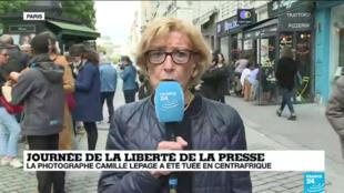 Maryvonne Lepage sur l'antenne de France 24.