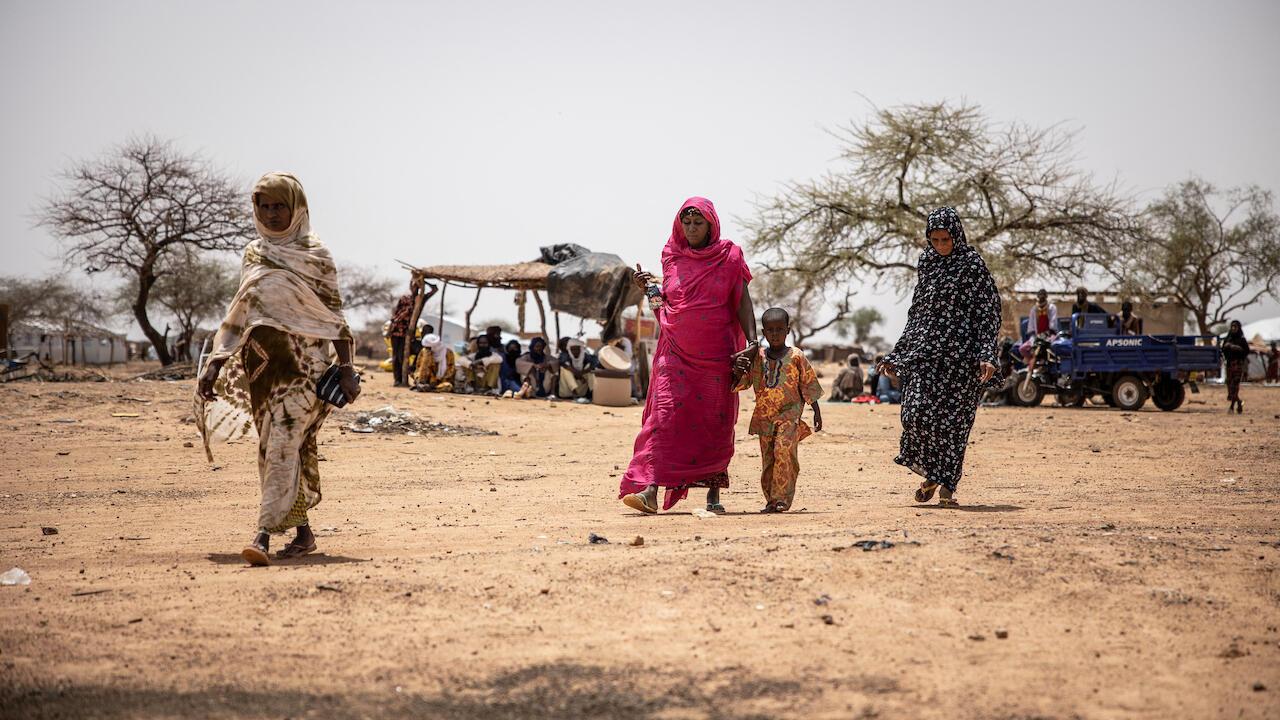 Burkina Faso Goudebou camp Malian refugees