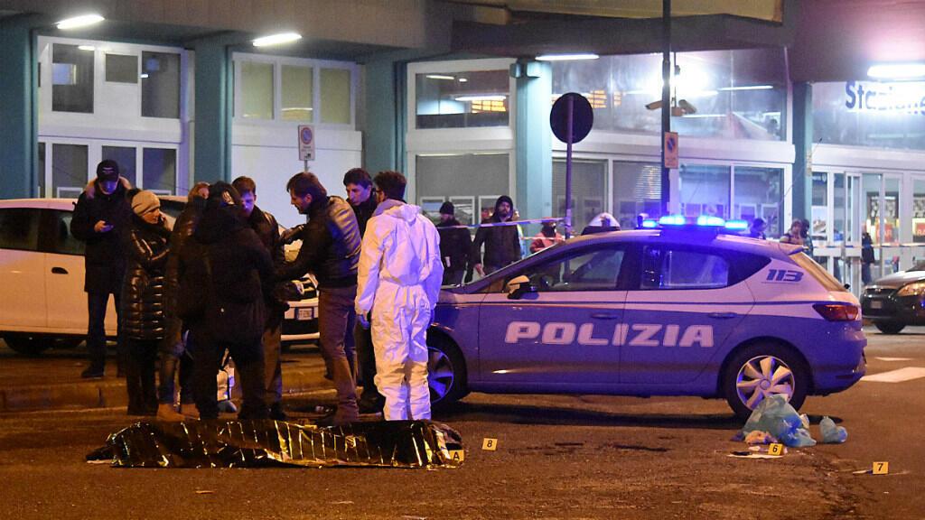 عناصر من الشرطة الإيطالية ليلة قتل أنيس العامري