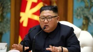 Kim Jong-un le 11 avril 2020.
