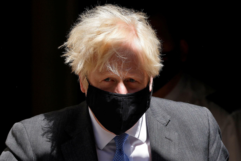 صورة مؤرخة في 16 حزيران/يونيو 2021 لرئيس الوزراء البريطاني بوريس جونسون في داونينغ ستريت