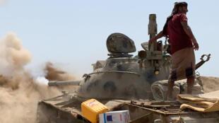 مقاتلون انصاليون من المجلس الانتقالي لجنوب االيمن في 23 أيار/مايو 2020