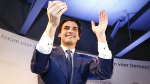 Thierry Baudet founded the Forum for Democracy just two years ago, but his party is on course to beat Prime Minister Mark Rutte's Liberals