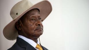 Le président Yoweri Museveni à Entebbe, en juin 2018.