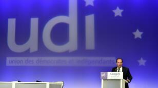 Le président de l'UDI Jean-Christophe Lagarde, le 20 mars 2016, à Versailles.
