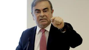 Carlos Ghosn, le 8 janvier 2020 à Beyrouth (Liban)