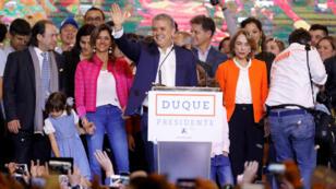 """El presidente electo de Colombia, Iván Duque, aseguró durante su discurso que no """"hara trizas los acuerdos de paz"""". Junio 17 de 2018."""