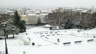 La butte Montmartre sous la neige. (Photo d'illustration)