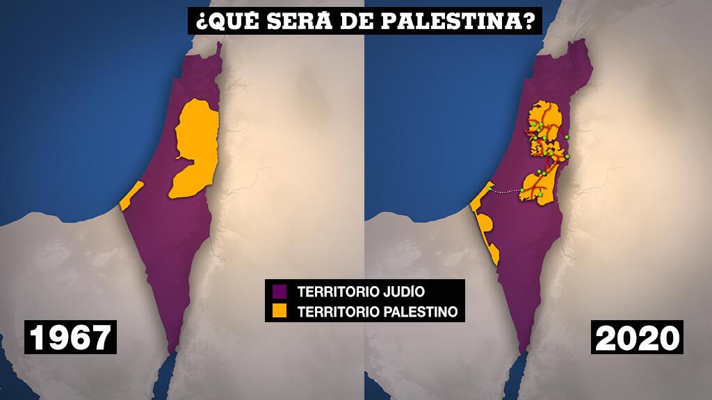 Los territorios palestinos desde la guerra de 1967 a 2020. France24