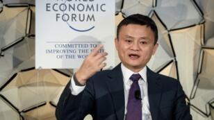 Le Chinois Jack Ma, fondateur d'Alibaba, le 23 janvier 2019 à Davos