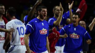La joie des Bleus après la victoire.