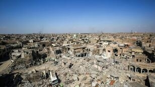 The old city in Mosul pictured in March 2018, after the Islamic State was pushed out some months earlier; the city has produced every Iraqi defence minister since 2003, including Monday's appointee General Najahal-Shemmari