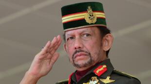 Le sultan de Brunei, Hassanal Bolkiah, lors des célébrations de la fête nationale le 24 février 2018.