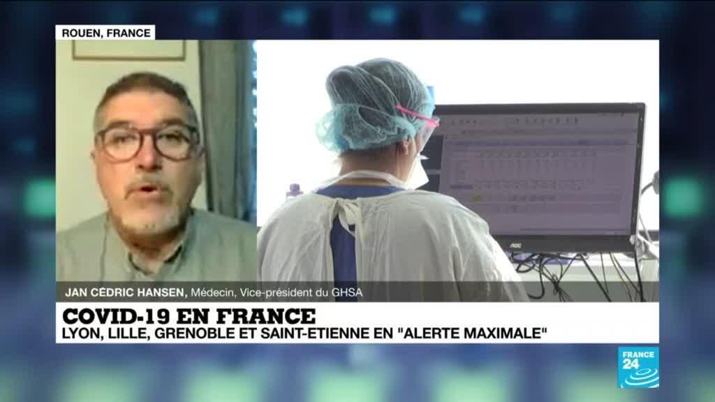"""2020-10-10 09:06 Covid-19 en France : 4 nouvelles villes en """"alerte maximale"""""""