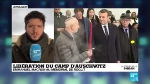 2020-01-23 12:06 Pour E. Macron, nier l'existence de l'Etat d'Israël est un antisémitisme contemporain