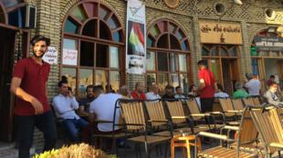 """مقهى """"ماشكو"""" في أربيل، عاصمة كردستان العراق"""