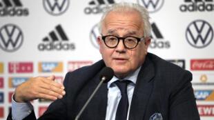 رئيس الاتحاد الألماني لكرة القدم فريتز كيلر في صورة مؤرخة في 27 أيلول/سبتمبر 2019.